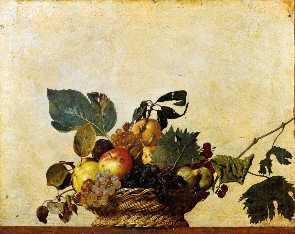 Michelangelo Merisi da Caravaggio, Canestra di frutta, 1599, Pinacoteca Ambrosiana