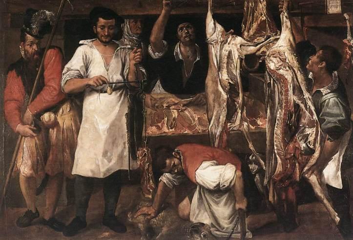 Annibale Carracci La bottega del macellaio