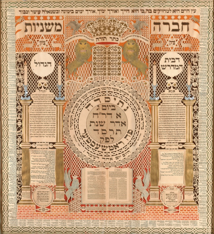 Baruch_Zvi_Ring_-_Memorial_Tablet_and_Omer_Calendar_-_Google_Art_Project